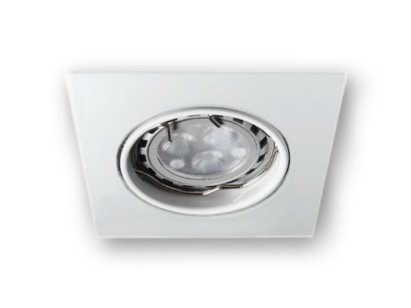 LED Einbaustrahler Spot MR11 eckig weiss 12 V - 3 W warmweiss