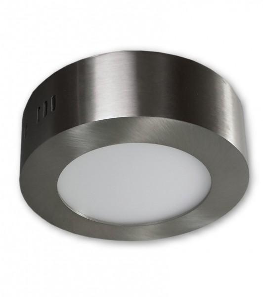 6 W - LED Aufbauleuchte 230 V rund - alu gebürstet