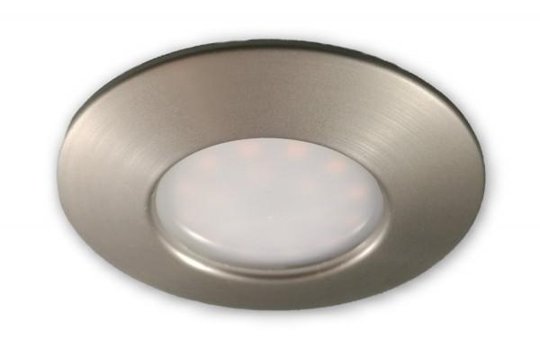 LED Spot 5W alu geb. warmweiss 230V IP44 geringe Einbautiefe