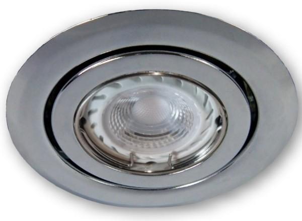 GU10 LED ( PA ) Einbaustrahler SSD004 chrom glänzend