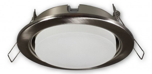 LED Einbaustrahler GX53 Dimmbar 230 V alu gebürstet - 7 W warmweiss