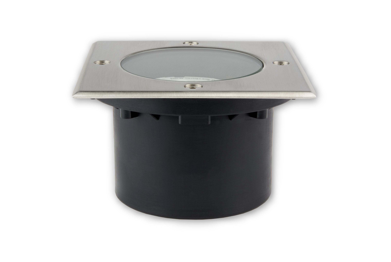 ip65 bodenleuchte 230 v eckig 7 w dimmbar gx53 led tlw. Black Bedroom Furniture Sets. Home Design Ideas