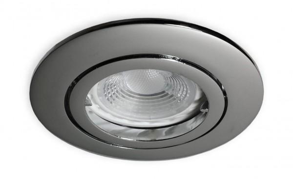 230 V LED GU10 Spot chrom für 68 mm Lochbohrung - 3 W (PA-WW)