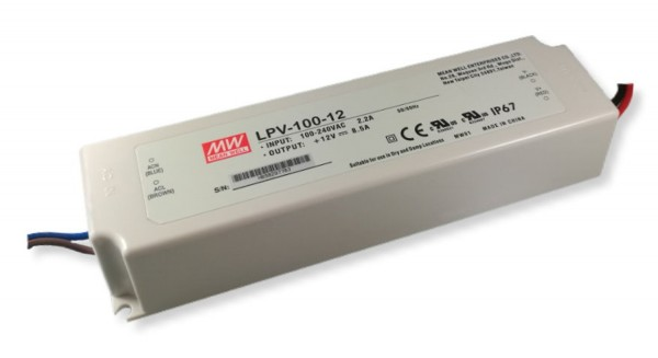 Mean Well - LED Trafo 12 V / 100 W - IP67
